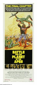 "Movie Posters:Science Fiction, Battle for the Planet of the Apes (20th Century Fox, 1972). Insert(14"" X 36""). Caesar the ape (Roddy McDowall) tries his be..."