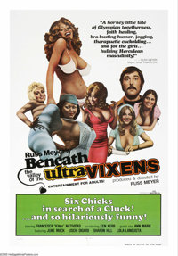 """Beneath the Valley of the Ultra-Vixens (Signal 166, 1979). One Sheet (27"""" X 41""""). Described by screenwriter Wi..."""