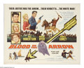 """Movie Posters:Western, Blood on the Arrow (Allied Artists, 1964). Half Sheet (22"""" X 28""""). In this Western, the sole survivor of an Apache ambush ri..."""