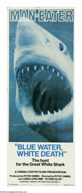 "Movie Posters:Documentary, Blue Water, White Death (National General, 1971). Insert (14"" X 36""). Four years before ""Jaws,"" this documentary brought us ..."