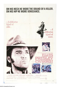 "Charro! (National General, 1969). One Sheet (27"" X 41""). Elvis Presley plays a reformed gunfighter who is stal..."