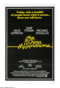 """The China Syndrome (Columbia, 1979). One Sheet (27"""" X 41""""). Jane Fonda stars as a reporter who discovers a cov..."""