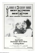 """Movie Posters:Drama, Coming Home (United Artists, 1978). One Sheet (27"""" X 41"""") Academy Award. Sally Hyde (Jane Fonda) is a good little military w..."""
