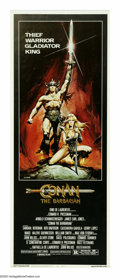 """Movie Posters:Action, Conan the Barbarian (Universal, 1982). Insert (14"""" X 36""""). ArnoldSchwarzenegger stars as Conan, a warrior out to seek reven..."""