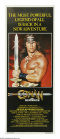 "Movie Posters:Action, Conan the Destroyer (Universal, 1984). Insert (14"" X 36""). Thesequel to ""Conan the Barbarian"" features Arnold Schwarzenegge..."