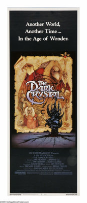 "The Dark Crystal (Universal, 1982). Insert (14"" X 36""). In a fantasy world concocted by Jim Henson, the evil S..."
