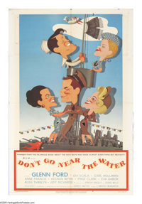 "Don't Go Near the Water (MGM, 1957). One Sheet (27"" X 41""). A tribute to those unsung heroes of WWII -- the me..."