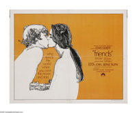 "Friends (Paramount, 1971). Half Sheet (22"" X 28""). ""If your friends are there, then everything's alright..."