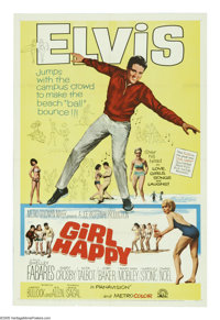 """Girl Happy (MGM, 1965). One Sheet (27"""" X 41""""). One of Elvis Presley's most popular vehicles finds the King as..."""
