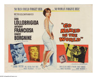 "Go Naked in the World (MGM, 1961). Half Sheet (22"" X 28""). This melodrama follows the story of a lady of the e..."