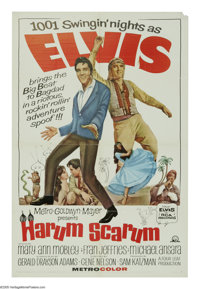 """Harum Scarum (MGM, 1965). One Sheet (27"""" X 41""""). Elvis Presley plays an action movie star/singer who is kidnap..."""