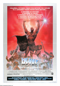 "Heavy Metal (Columbia, 1981). One Sheet (27"" X 41"") Style B. ""A shadow shall fall over the universe, and..."