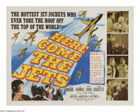 "Here Come the Jets (20th Century Fox, 1959). Half Sheet (22"" X 28""). This action film centers on the creation..."