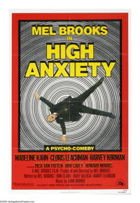 """High Anxiety (20th Century Fox, 1977). One Sheet (27"""" X 41""""). Mel Brooks' tribute to Alfred Hitchcock spoofs a..."""