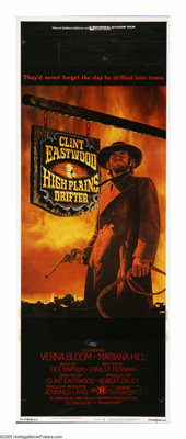 "High Plains Drifter (Universal, 1974). Insert (14"" X 36""). Clint Eastwood is a nameless gunslinger who rides i..."