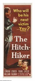 "Movie Posters:Film Noir, The Hitch-Hiker (RKO, 1953). Insert (14"" X 36""). A reallyhard-edged film noir directed by actress Ida Lupino, one ofth..."