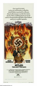 "Movie Posters:War, Hitler: The Last Ten Days (Paramount, 1973). Insert (14"" X 36"").Alec Guinness portrays Adolf Hitler at the very end of the ..."