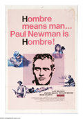 """Movie Posters:Western, Hombre (20th Century Fox, 1966). One Sheet (27"""" X 41""""). Paul Newmanplays a blue-eyed Native American -- actually a white ma..."""