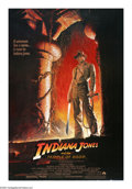 "Movie Posters:Adventure, Indiana Jones and the Temple of Doom (Paramount, 1984). One Sheet(27"" X 41""). This was director Steven Spielberg's second e..."