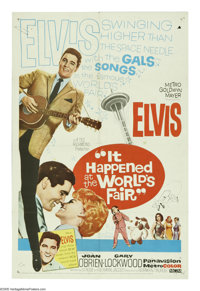 "It Happened at the World's Fair (MGM, 1963). One Sheet (27"" X 41""). At Seattle's 1962 World Fair, Elvis Presle..."