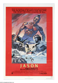 "Jason and the Argonauts (Columbia, R-1978). One Sheet (27"" X 41""). Ray Harryhausen's personal favorite of all..."