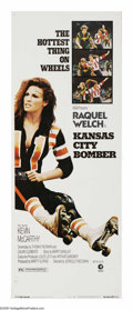 "Movie Posters:Drama, Kansas City Bomber (MGM, 1972). Insert (14"" X 36""). K.C. Carr(Raquel Welch) is divorced and trying to raise two kids. She's..."