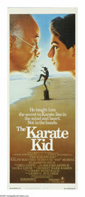 """Movie Posters:Drama, The Karate Kid (Columbia, 1984). Insert (14"""" X 36""""). Daniel LaRusso (Ralph Macchio) is the new kid in town at his California..."""