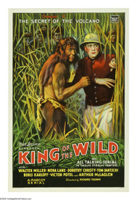 "King of the Wild (Mascot, 1931). One Sheet (27"" X 41""). ""Chapter 4: The Secret of the Volcano."" This..."