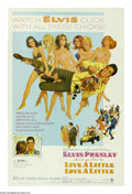 "Movie Posters:Elvis Presley, Live a Little, Love a Little (MGM, 1968). One Sheet (27"" X 41"").Greg Nolan (Elvis Presley) meets a girl and falls in over h..."