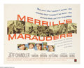 "Movie Posters:Adventure, Merrill's Marauders (Warner Brothers, 1962). Half Sheet (22"" X28""). Jeff Chandler's last film was this Samuel Fuller direct..."