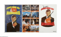 """Moonraker (United Artists, 1979). 1 Stop Advance (41"""" X 76""""). Roger Moore's fourth time as James Bond finds hi..."""