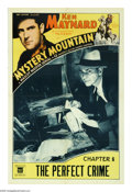 "Movie Posters:Serial, Mystery Mountain (Mascot, 1934). One Sheet (27"" X 41""). ""Chapter 6:The Perfect Crime."" Ken Maynard stars alongside Verna Hi..."