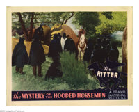 "The Mystery of the Hooded Horsemen (Grand National, 1937). Lobby Card (11"" X 14""). Based on the notorious Blac..."