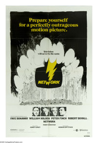 """Network (United Artists, 1976). One Sheet (27"""" X 41""""). """"I'm mad as hell and I'm not going to take it anym..."""