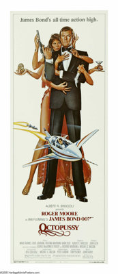 "Octopussy (MGM-UA, 1982). Insert (14"" X 36""). In this go-around, 007 must stop the assistant manager of a circ..."