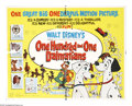 "Movie Posters:Animated, One Hundred and One Dalmations (Buena Vista, 1961). Half Sheet (22""X 28""). The wonderful story of Dalmatian parents Pongo a..."