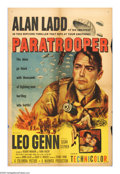 "Movie Posters:War, Paratrooper (Columbia, 1953). One Sheet (27"" X 41""). After causingthe needless death of another officer during a near-disas..."