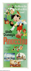 "Movie Posters:Animated, Pinocchio (Buena Vista, R-1971). Insert (14"" X 36""). ""Always letyour conscience be your guide."" This is the Blue Fairy's ad..."