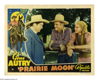 "Prairie Moon (Republic, 1938). Lobby Card (11"" X 14""). Gene Autry and Shirley Deane help a trio of tough Chica..."