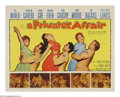 "Movie Posters:Musical, A Private's Affair (20th Century Fox, 1959). Half Sheet (22"" X28""). Army privates Luigi Maresi, Jerry Morgan and Mike Conro..."
