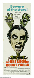 """Movie Posters:Horror, The Return of Count Yorga (AIP, 1971). Insert (14"""" X 36""""). CountYorga (Robert Quarry) has shown up in a mansion next to an ..."""