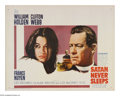 """Movie Posters:Drama, Satan Never Sleeps (20th Century Fox, 1962). Half Sheet (22"""" X 28""""). When a priest arrives at a mission post in China, the c..."""