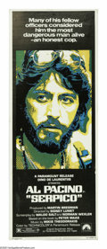 "Movie Posters:Drama, Serpico (Columbia, 1974). Insert (14"" X 36""). ""Frank, let's faceit. Who can trust a cop who don't take money?"" Based on the..."