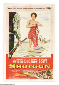 """Shotgun (Allied Artists, 1955). One Sheet (27"""" X 41""""). Lesley Selander directed some of the best Westerns of t..."""