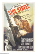 "Movie Posters:Film Noir, Side Street (MGM, 1950). One Sheet (27"" X 41""). Anthony Manndirects this film noir drama about a man who is down onhis..."