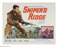 "Movie Posters:War, Sniper's Ridge (20th Century Fox, 1961). Half Sheet (22"" X 28"").Set on the front lines at the end of the Korean War, this w..."