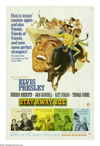 """Stay Away, Joe (MGM, 1968). One Sheet (27"""" X 41""""). Elvis Presley plays a mixed-blood Indian with strong ties t..."""