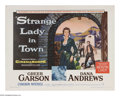 "Movie Posters:Western, Strange Lady in Town (Warner Brothers, 1955). Half Sheet (22"" X 28""). This story of a female doctor in 1880s Santa Fe was pr..."