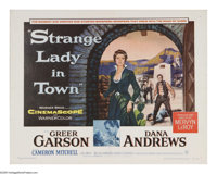 "Strange Lady in Town (Warner Brothers, 1955). Half Sheet (22"" X 28""). This story of a female doctor in 1880s S..."