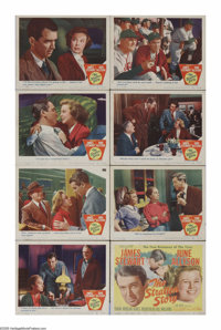 "The Stratton Story (MGM, 1949). Lobby Card Set of 8 (11"" X 14""). James Stewart plays the real life story of Mo..."
